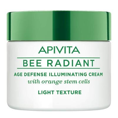 APIVITA Bee Radiant iluminirajuća krema protiv starenja lagane teksture 50ml
