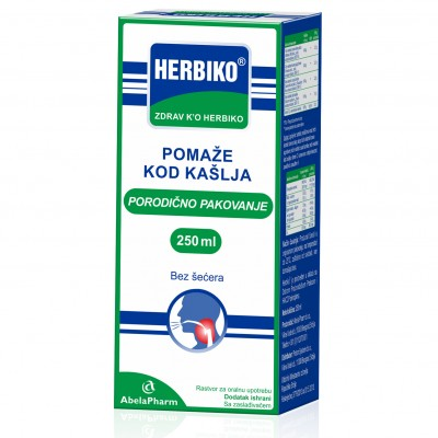 Herbiko sirup za kašalj bez šećera 250ml