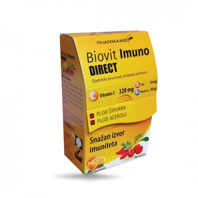 Biovit Imuno Direct vitamin C Zn D3 vrećice a16