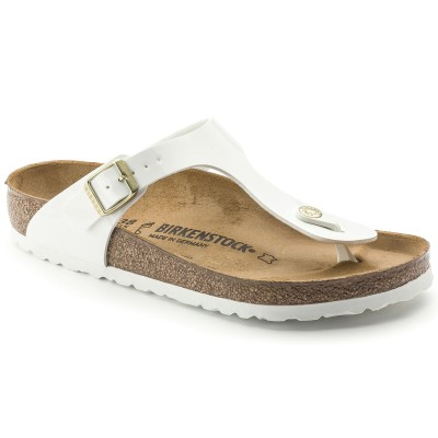 BIRKENSTOCK Gizeh sandale Patent White