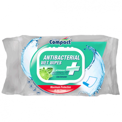 Antibakterijske vlažne maramice Compact Wipes A40
