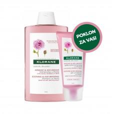Klorane Šampon s ekstraktom božura 400ml + Klorane Gel balzam s božurom 200ml GRATIS