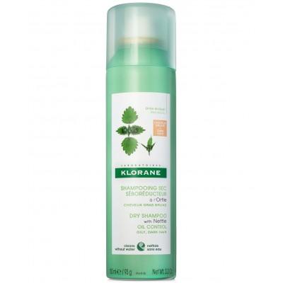 Klorane Suhi šampon s koprivom za tamnu kosu 150ml