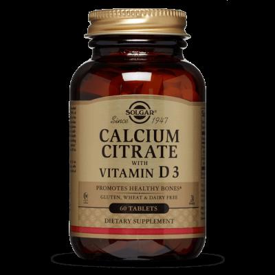 SOLGAR Kalcij citrat + vitamin D tbl. A60