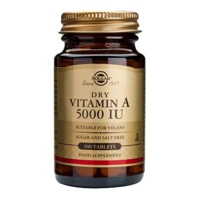 SOLGAR Vitamin A 5000 I.J. tbl a100