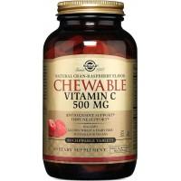 SOLGAR Vitamin C okus brusnica/malina tablete za žvakanje A90