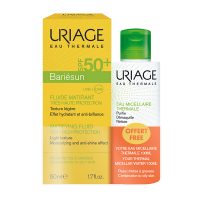 URIAGE Bariésun Mat fluid SPF50+ 50ml + Micelarna voda za masnu kožu 100ml GRATIS
