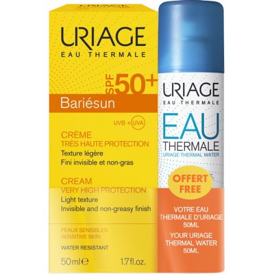 URIAGE Bariésun krema SPF50+ 50ml + Termalna voda 50ml GRATIS