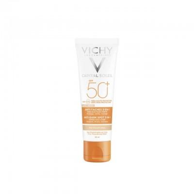 VICHY Capital Soleil Obojena zaštitna krema 3u1 SPF50+ protiv tamnih mrlja 50ml