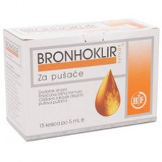 Bronhoklir za pušače 15x5 ml