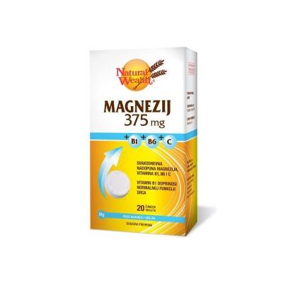 NW Magnezij 375mg + B1 + B6 + C eff.A20