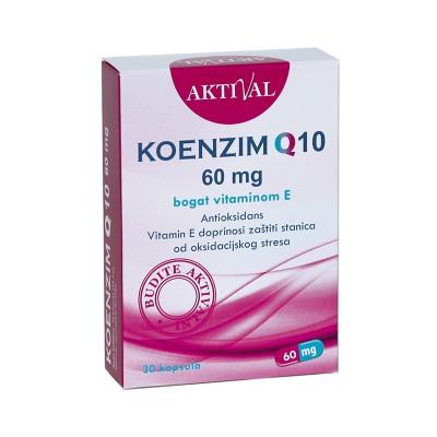 Aktival Koenzim Q10 60mg + Vitamin E