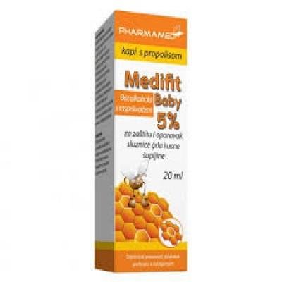 Medifit Baby 5% kapi s propolisom 20ml